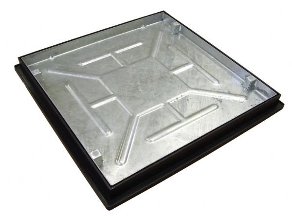 Clark Drain Recessed Manhole Cover - 600mm x 600mm x 46mm With Frame Sealed & Locked T16G3